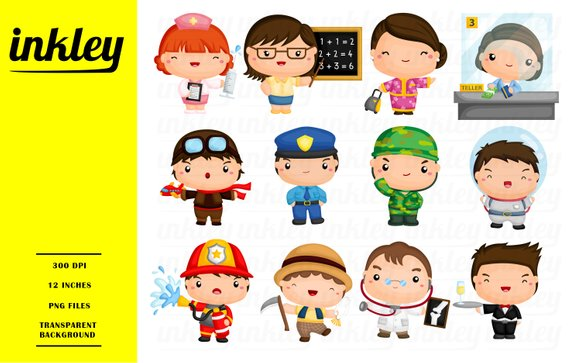 Job occupation clip art. Careers clipart painting