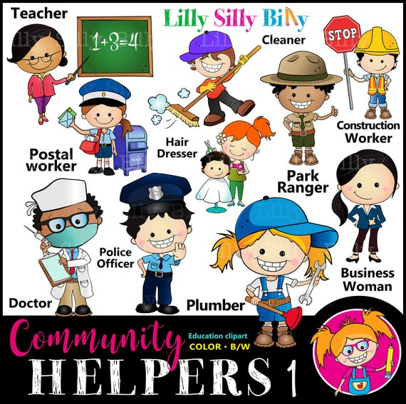 Community helpers set for. Careers clipart painting