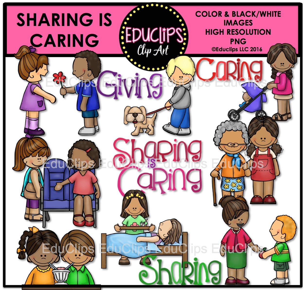 Sharing is clip art. Caring clipart
