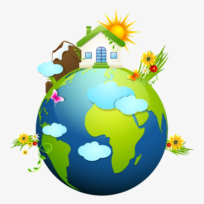 Caring clipart. Protect the earth home
