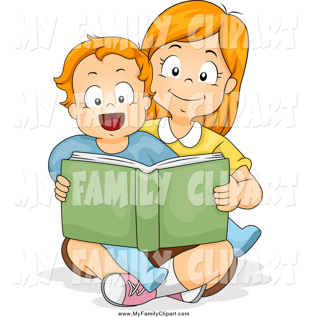 Caring clipart book. Royalty free stock family