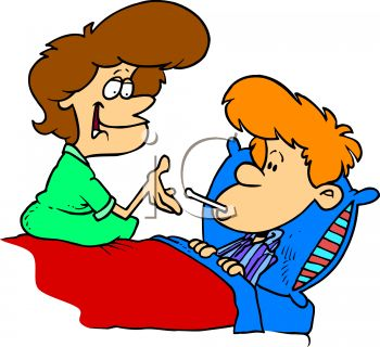 For her sick son. Caring clipart caring mom