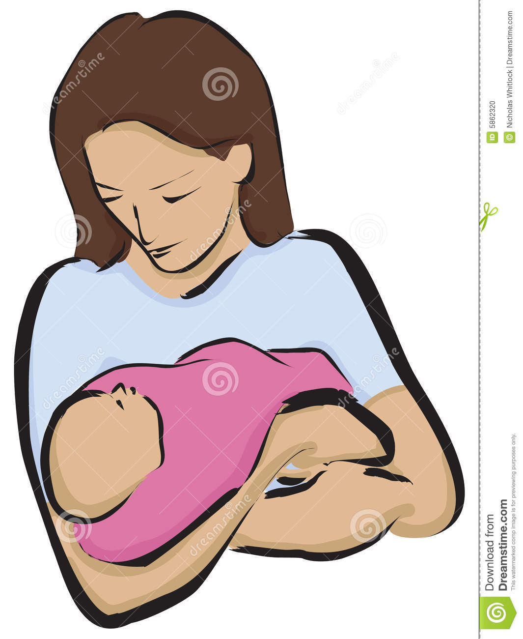 Caring clipart caring mom. Newborn and mother
