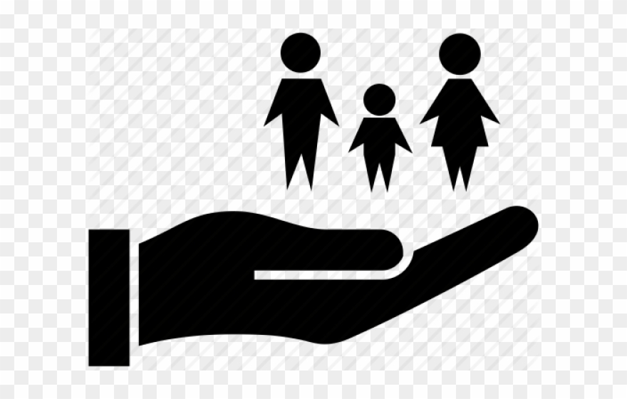 Life insurance holding hands. Caring clipart caring person