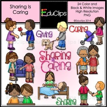 Caring clipart caring person. Sharing is clip art