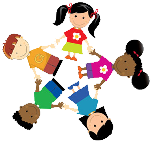 Merry go round daycare. Caring clipart child care