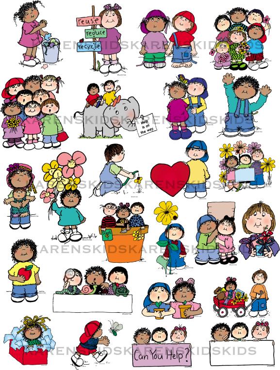 Clip art kids index. Caring clipart child care