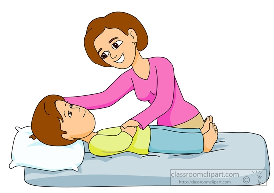 Mommy pencil and inlor. Caring clipart child care