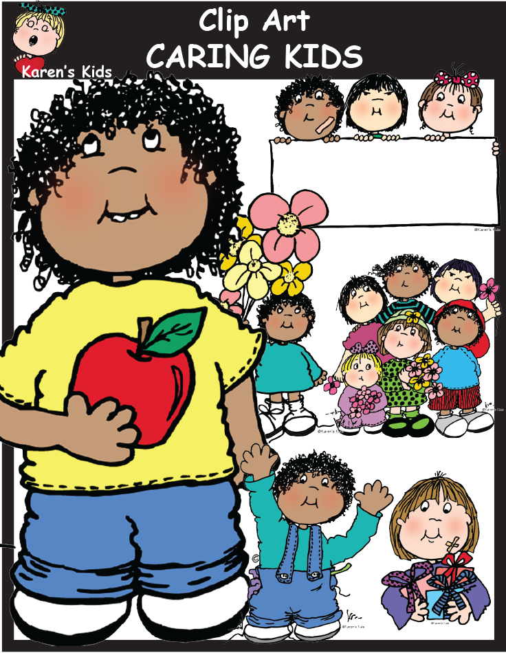 Caring clipart child care. Kids includes images files