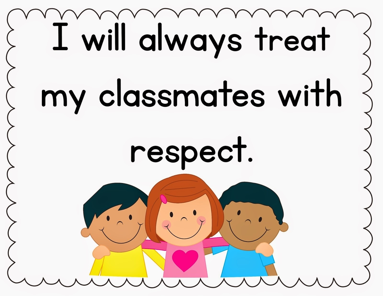 Caring clipart classroom. Rules letters cliparts and