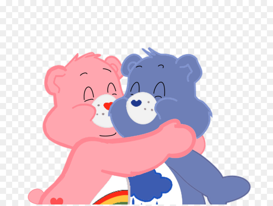Grumpy bear bears hug. Caring clipart duty care