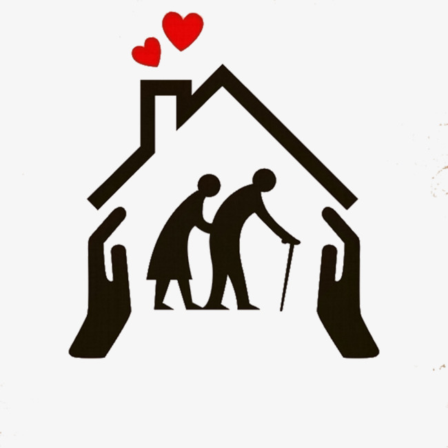 Caring clipart elderly care. For the black icon