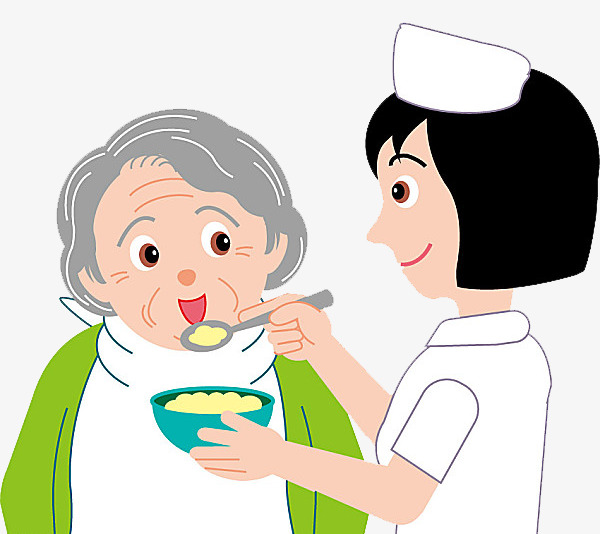 Nurse material old people. Caring clipart elderly care