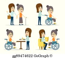 Caring clipart elderly care. Clip art royalty free
