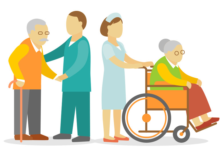Caring clipart elderly care. How to get long