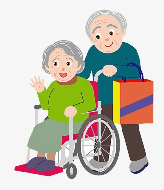 Caring clipart elderly care. For the people illustration