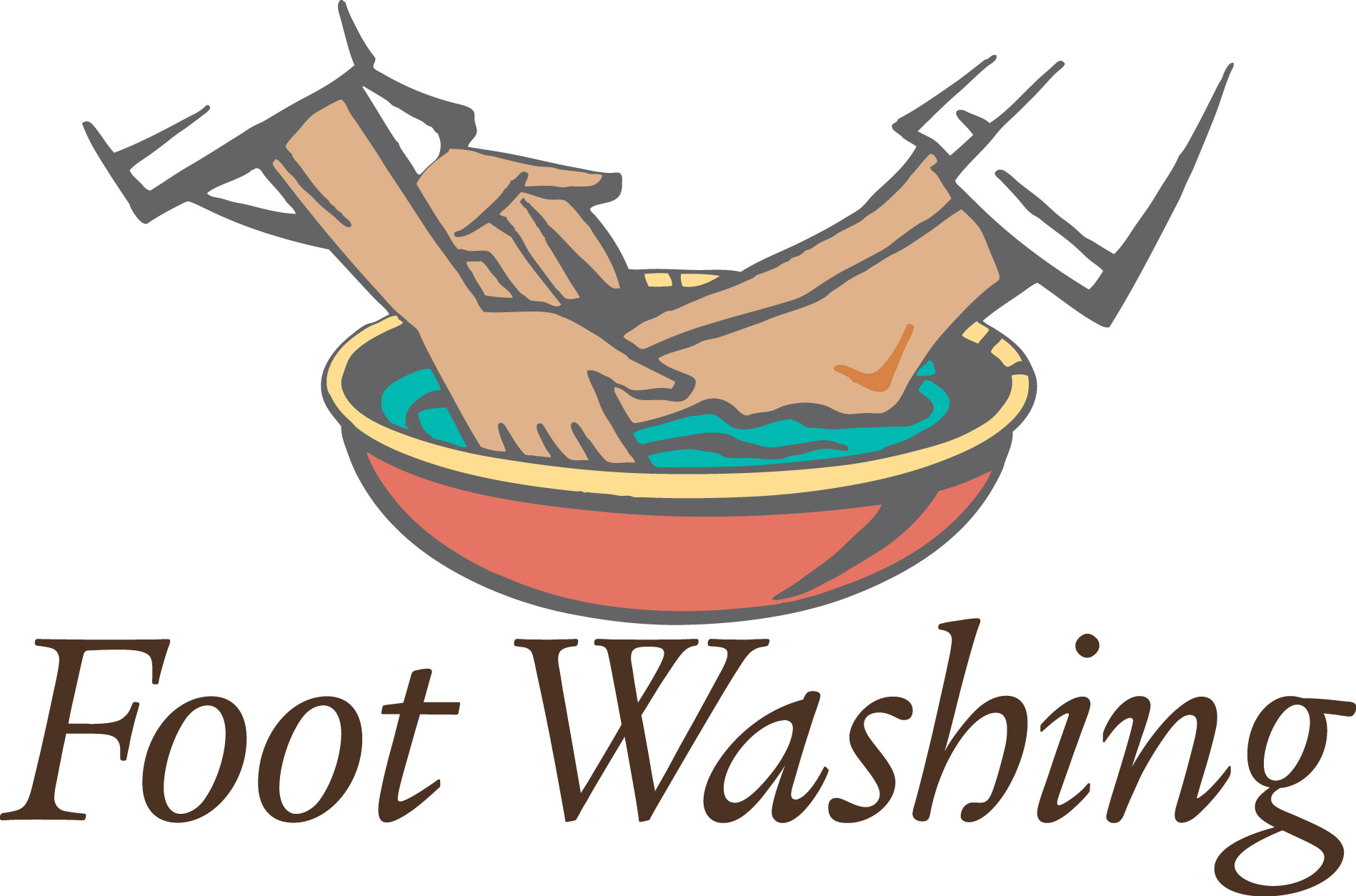 Washing st james episcopal. Caring clipart foot