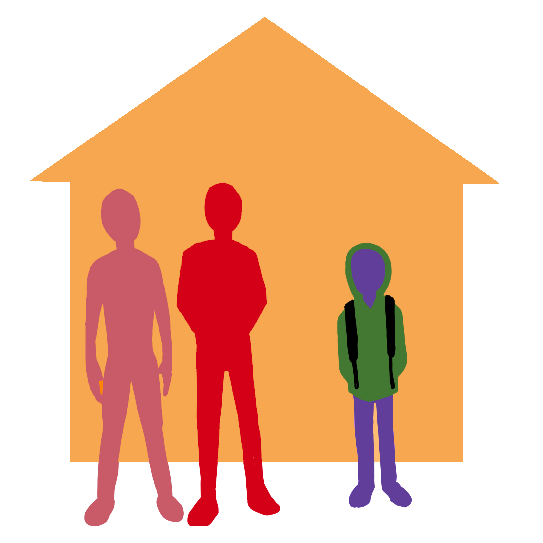 Non relative png family. Caring clipart foster care