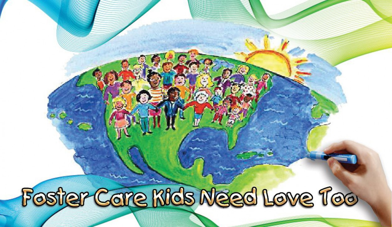 Unity kids need love. Caring clipart foster care