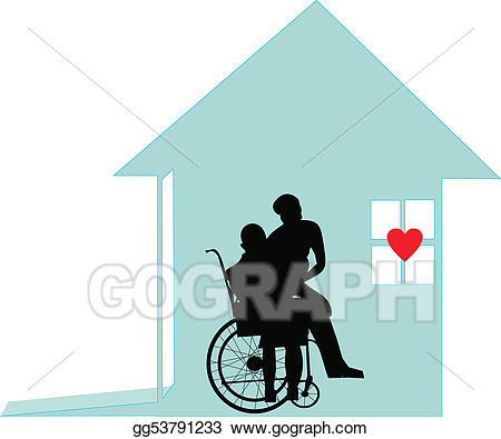 Caring clipart home help. Eps illustration with honor