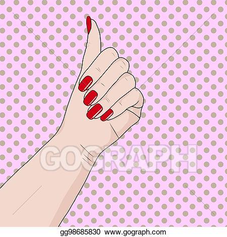 Vector art homemade beauty. Caring clipart nail