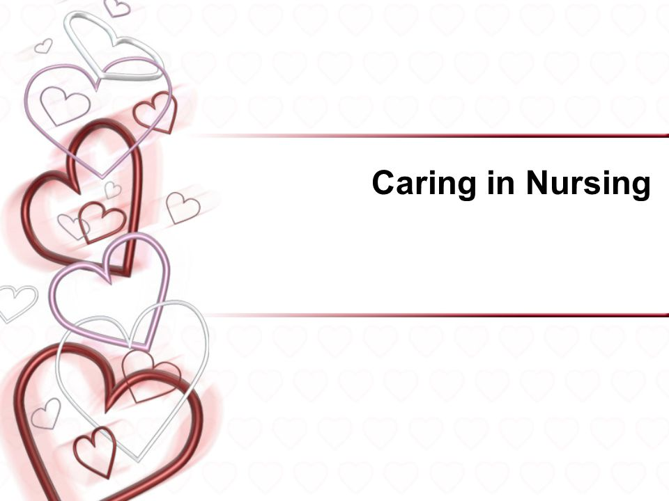 Caring clipart nursing. In ppt video online
