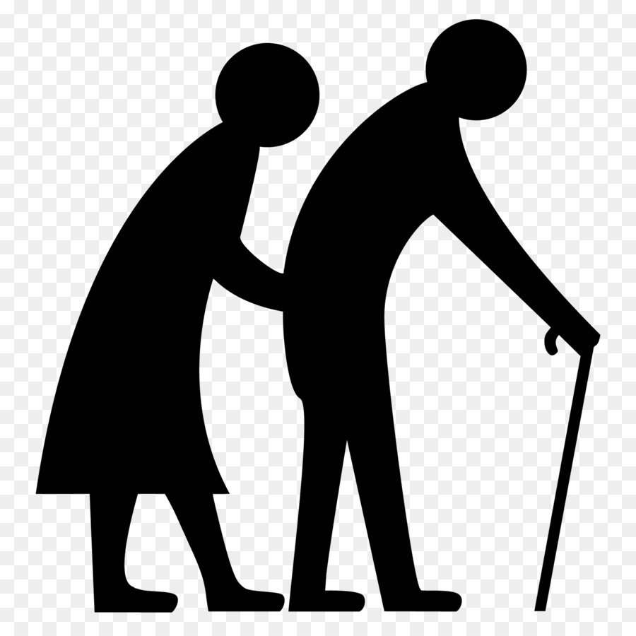 Caring clipart patient care. Old age aged health