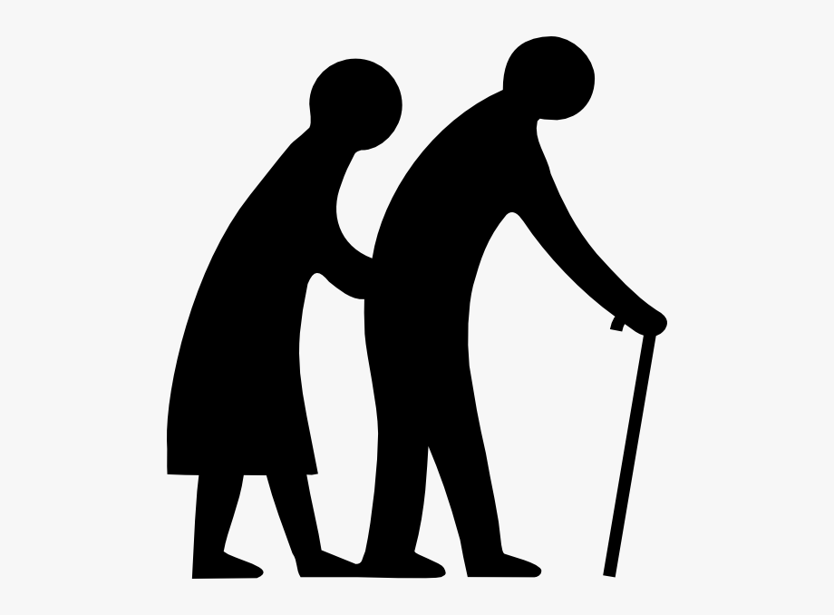 Elder old people clip. Caring clipart patient care