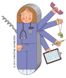Envisioning new roles for. Caring clipart patient centered