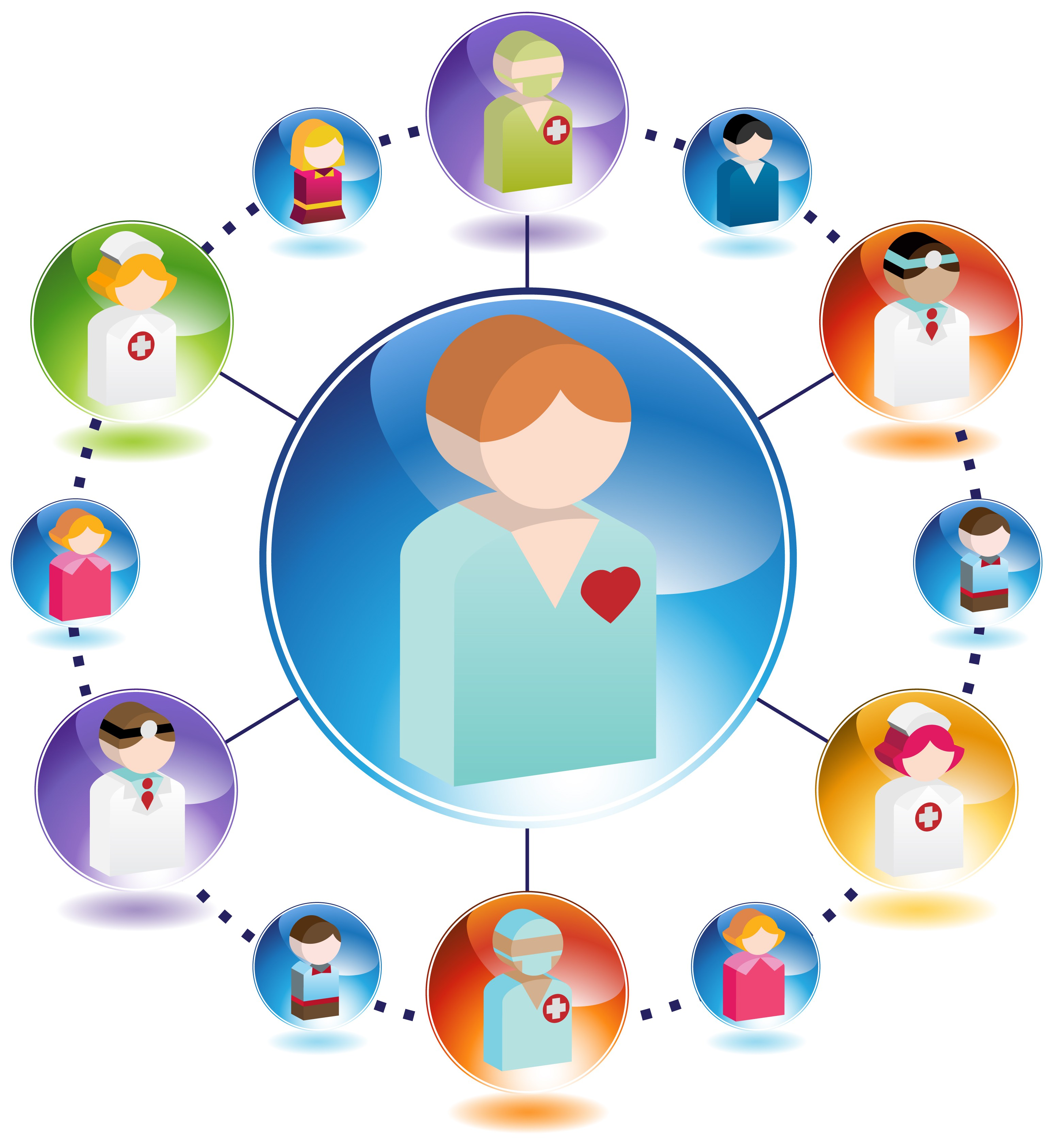 Caring clipart patient centered. Integrated health networks care