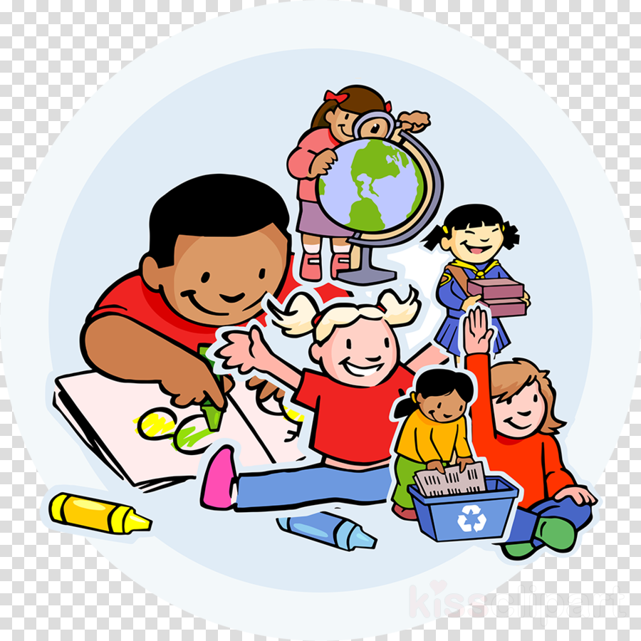 Nursery school cartoon teacher. Caring clipart patient education