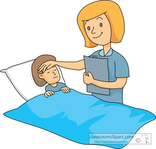 Beautiful looking nurse and. Boys clipart sick