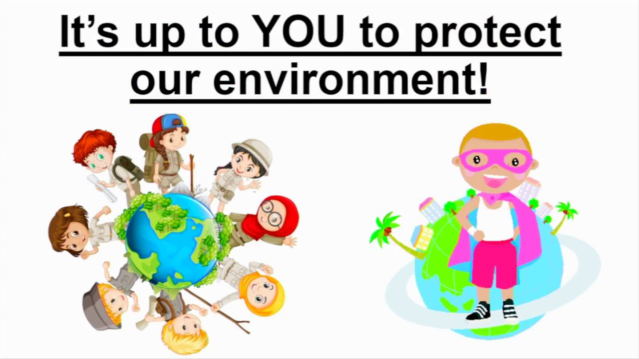 Taking of the environment. Caring clipart take care
