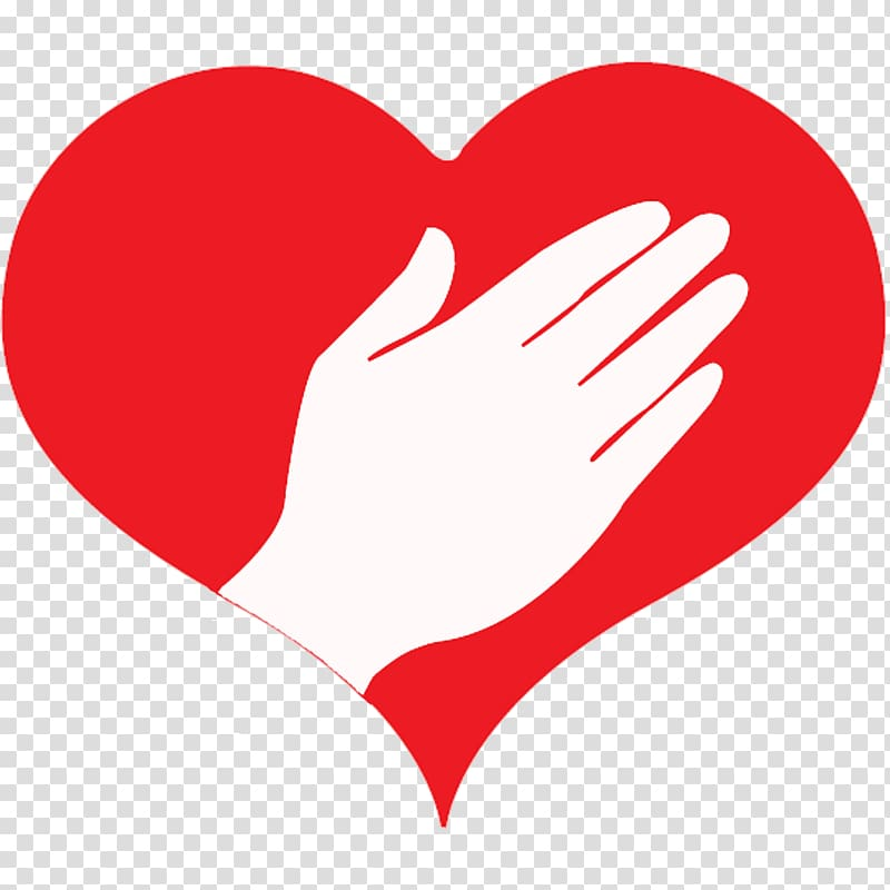 Heart hand finger background. Caring clipart transparent