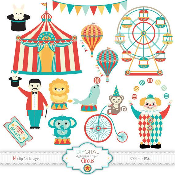 Circus clip art clown. Carnival clipart