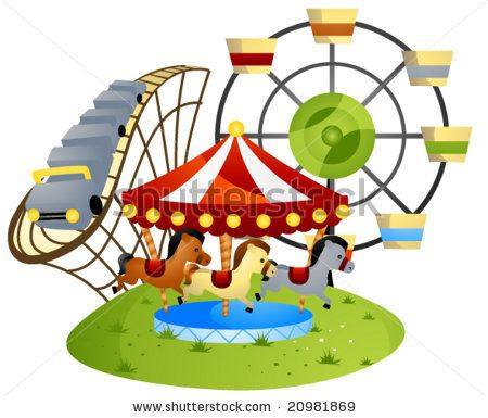 Carnival clipart amusement park. Themed crafts drawings this