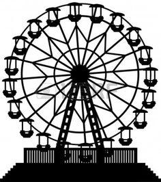 Ferris wheel pinterest wheels. Carnival clipart black and white