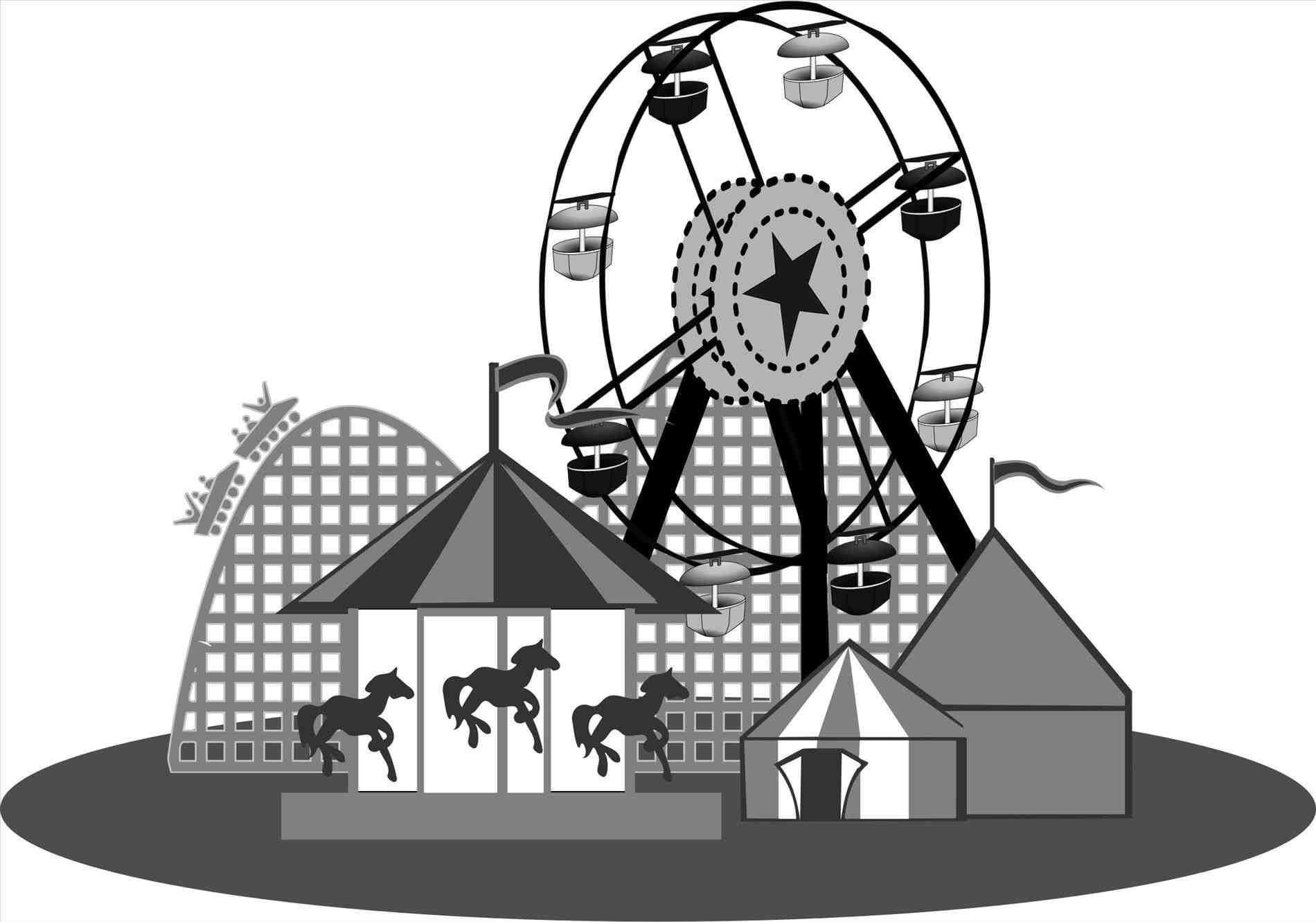 Games istiqomah website whitejpg. Carnival clipart black and white