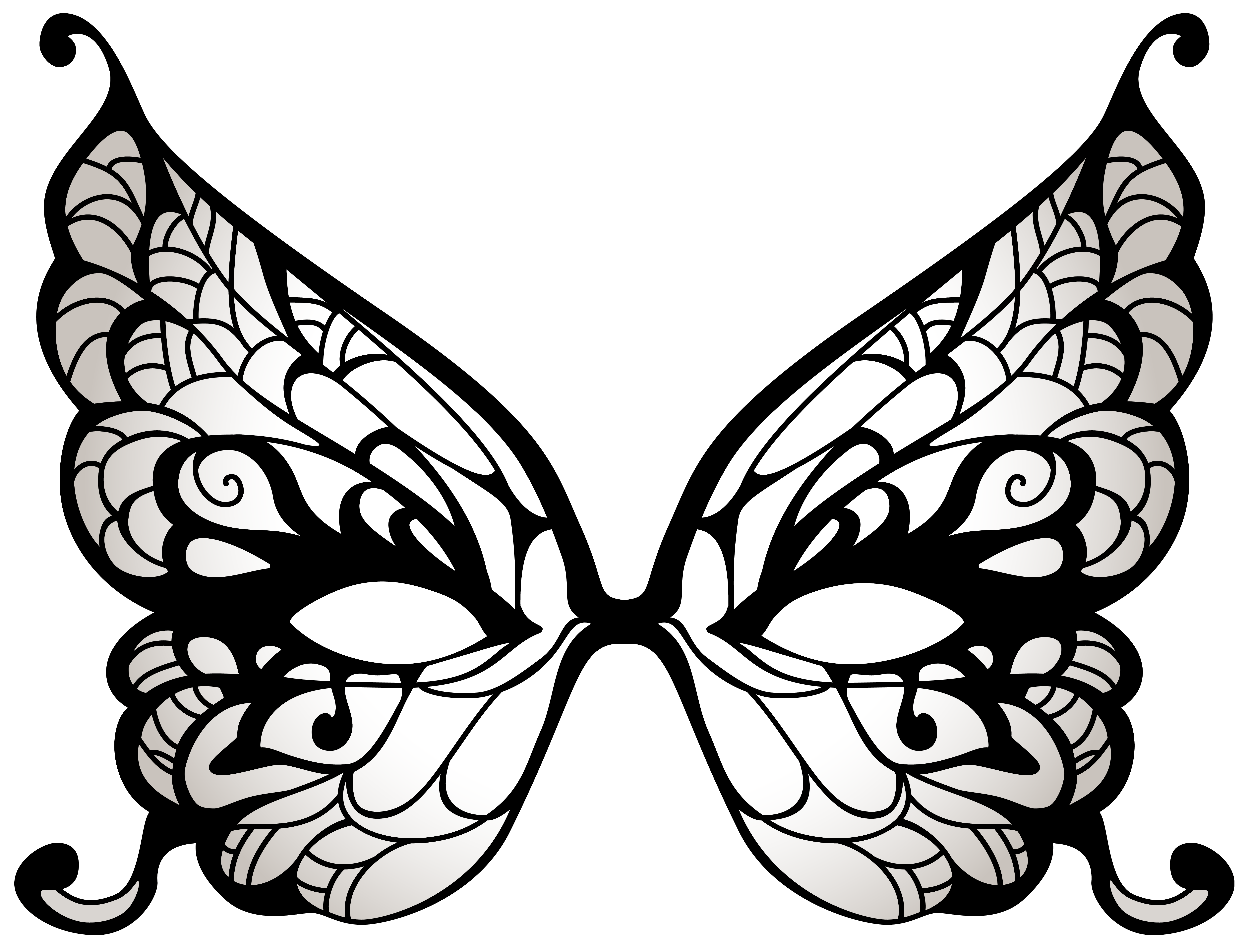 Butterfly mask png clip. Carnival clipart black and white