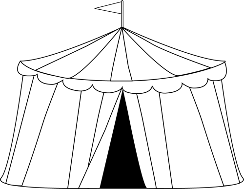 Clip art circus tent. Carnival clipart black and white