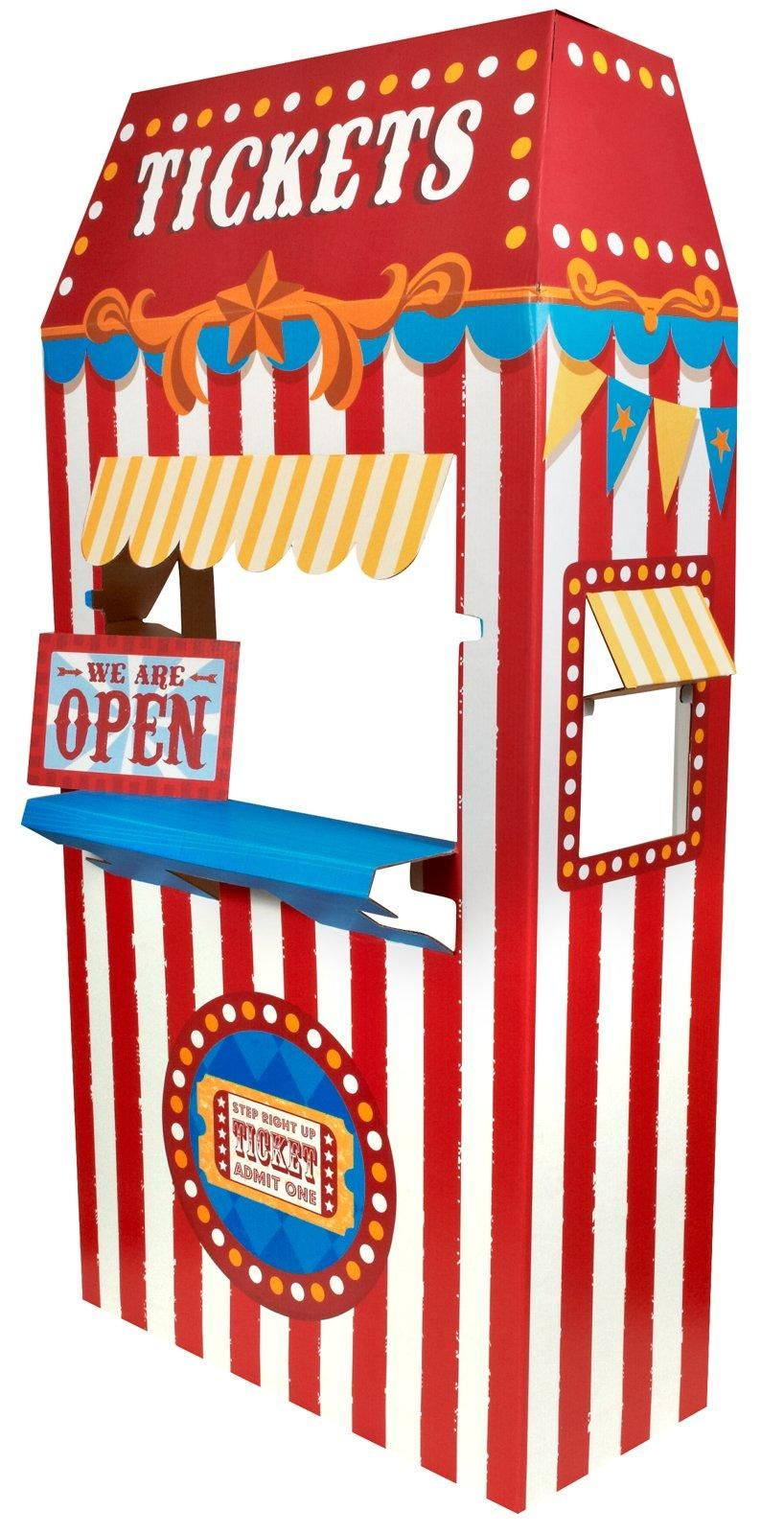 Ticket cardboard stand from. Carnival clipart booth