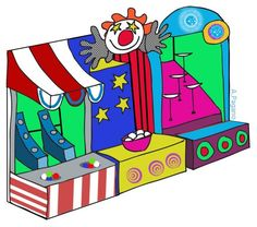 Bean bag toss image. Carnival clipart booth