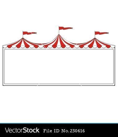Free to print circus. Carnival clipart border
