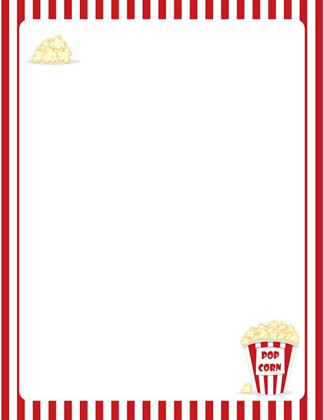 Carnival clipart border. Printable popcorn free gif