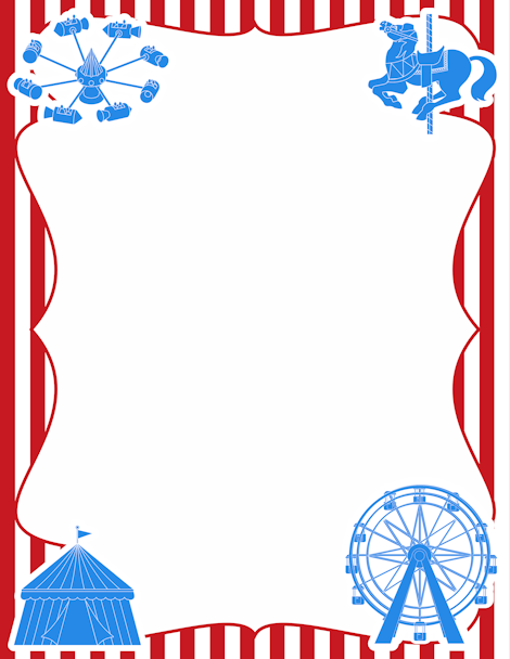 Pin by muse printables. Carnival clipart border