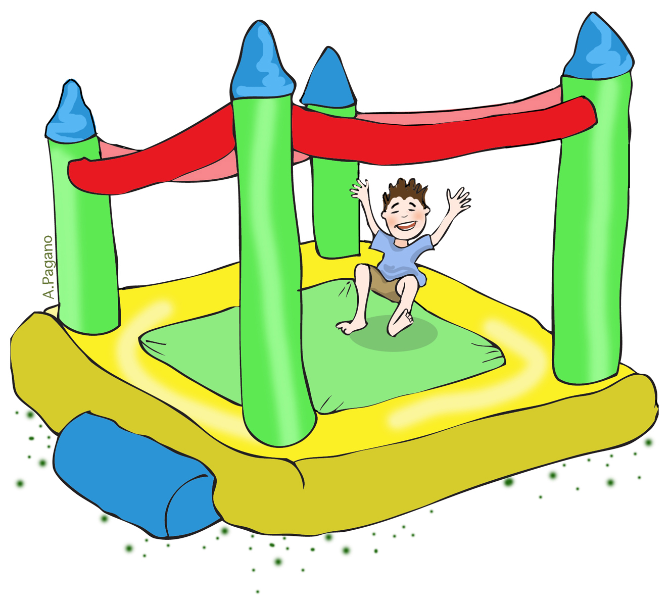 Carnival clipart bouncy castle. Free games clip art