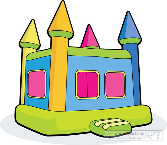 Carnival clipart bouncy castle.  collection of cartoon