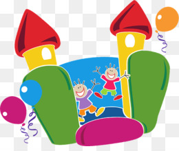 Inflatable clip art games. Carnival clipart bouncy castle