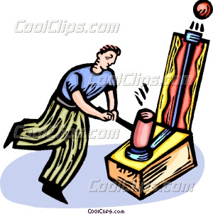 Man playing vector clip. Carnival clipart carnival games
