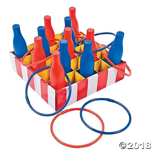 Bottle ring toss game. Carnival clipart carnival games